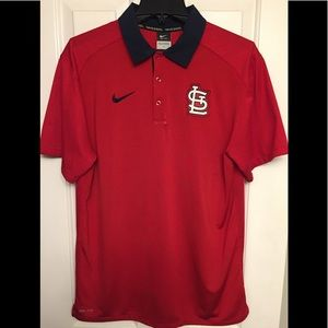 St. Louis Cardinals Nike Authentic Polo- LG